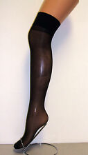 Ladies 2 Pair 15 Denier 100% Nylon Stocking - Black - One Size