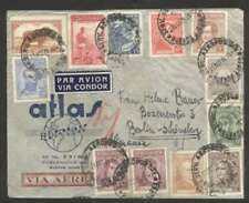 Argentina To Germany Airmail Cover 1936 w 12 Stamps