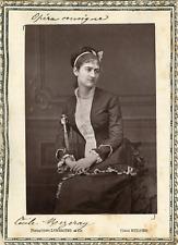 Lemercier et Cie, Paris, Opéra Comique. Soprano Cécile Mezeray  Vintage print.