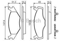 4 PLAQUETTES DE FREIN AVANT VW JETTA II (19E, 1G2, 165) 1.6 75 CH 01.1984-07.199