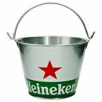 """Heineken Beer Bottle Ice Bucket With Handle 7"""" Diameter Party Pub Home Bar"""