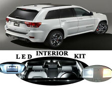 LED Package Interior + License + Vanity + Reverse for Jeep Grand Cherokee 17Pcs