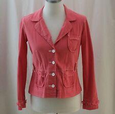 Fashion Bug Stretch, Small, Coral Denim Jacket