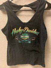 Harley Davidson Womens Black Tank Top - Duke City HD New Mexico Medium