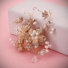 or à perles cristal peigne à cheveux Bridal perle bordeaux mariage coiffes pour