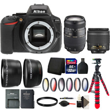 Nikon D5600 Digital SLR Camera with 18-55mm Lens, 70-300mm Lens and Accessories
