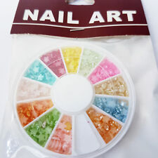 New Nail Art Wheel with 12 Colours - 3D Star Designs Nail Art Gems UK SELLER