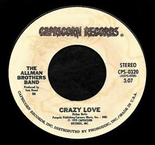 """THE ALLMAN BROTHERS BAND """"CRAZY LOVE/Just Ain't Easy"""" CAPRICORN 0320 (1979) 45"""