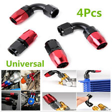4Pcs Car Auto AN6 0° + 90° Degree Swivel Oil/Fuel/Air/Gas Line Hose End Fitting
