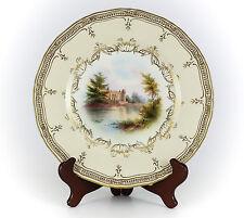 Royal Worcester Porcelain Cabinet Plate of Warwick Castle c1900.