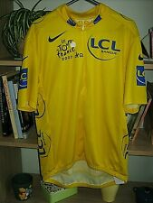 Genuine Nike Tour de France yellow leaders cycling jersey (maillot jaune) Large