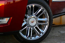 "22""x9"" Cadillac Escalade Platinum Style Rims Chrome CA83 Wheels ESV EXT 24"