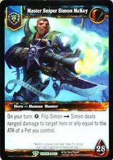 WOW Master Sniper Simon McKey THRONE 5/202 FOIL WORLD OF WARCRAFT ENG RARE MINT