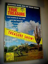 True Treasure Magazine August 1971 SUNKEN GOLD & SILVER PROSPECTING-COINS MONEY