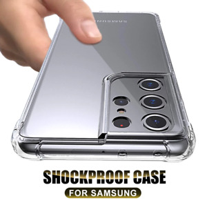 For Samsung A72 A52 A32 S21 Plus S20 ShockProof Bumper Clear Silicone Case Cover