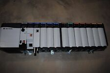 ALLEN BRADLEY CONTROLLOGIX LOADED 13 SLOT RACK COMPLETE  SYSTEM WITH 1756-L71