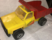 Tonka Red Yellow Contruction Pressed Steel Dump Truck Vintage!