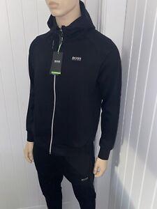 Hugo Boss Tracksuit Hooded Jacket & Pants Mens Black/silver Size Small £118