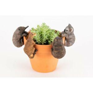 Australian Animal Garden Pot Sitters Ornament Set Of 4