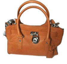 Michael Kors Hamilton Burnt Orange Leather Handbag Shoulder Bag Purse Medium