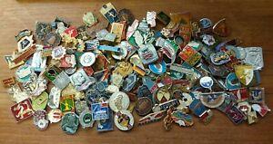 3 x Real Communist Era Russian USSR CCCP Soviet Revolution Pin Badges Bundle Lot