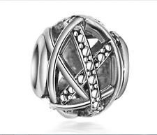 1P Hollow out Charm Silver Beads Fit European Bracelet de32