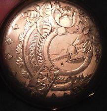 Antique Finely Engraved Victorian Hunter Case Gold Fill Pocket Watch Elgin 1890