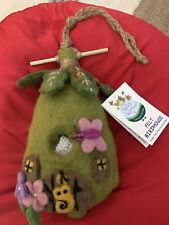 Felt Birdhouse fairy House Wild Woolies