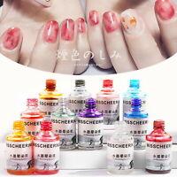 Watercolor Ink Nail Polish Blooming Gel Smudge Liquid Nail Art DIY Tools 15ml
