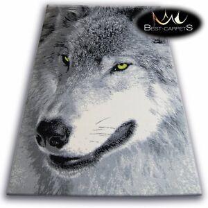 ORIGINAL ANIMAL THEME CARPETS 'FLASH' WOLF Print Area CHEAP Rugs Carpet