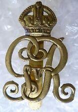 Badge- Norfolk Yeomanry Cap Badge KC George V (BRASS) Slider