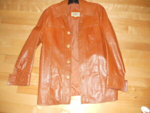 Vintage 1970's Leather Jacket, Donni Brosco Style, Very Nice