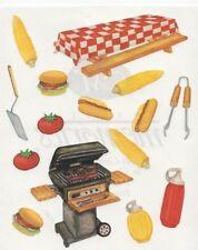 NEW Creative Memories BLOCK STICKER - BBQ Sauce Hotdog Picnic Corn Hamburger
