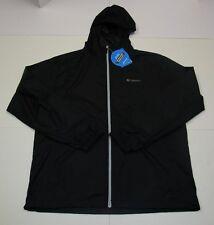 Mens Columbia Black Gray Water Resistant Rockwell Falls Windbreaker Jacket Large