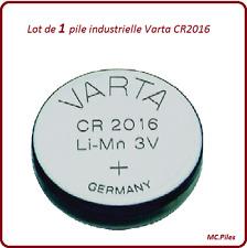 1 pila de botón CR2016 litio Varta Industrial