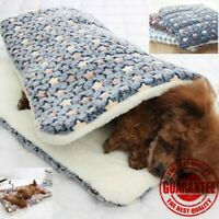 Dog Cat Puppy Pet Plush Blanket Mat Warm Sleeping Soft Bed Blankets Supplies UK
