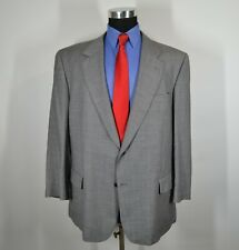 Jos A Bank 48R Sport Coat Blazer Suit Jacket Gray Wool Blend