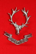SUPERB QUALITY SCOTTISH PIPER'S BAGPIPE GLENGARRY CAP BADGE HIGHLANDERS 2 PIECE