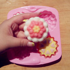 3D Flowers Silicone Molds Cake Cupcake Soap Biscuit Chocolate Bread Jelly Mould