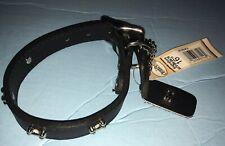 "NWT OmniPet Signature Leather bone Dog Collar Black 16"" 6070-BN-BK16"