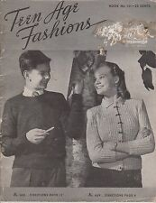 Vintage Knitting Patterns | Beehive 131 Teen Age Fashions | 1945