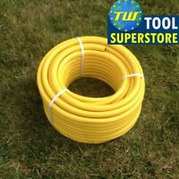 30 Metre Yellow Garden Hose Pipe - 30M Reinforced Anti-kink Water Hosepipe