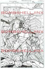 DC THE SHIELD #4 Page 20 Original Art By Cliff Richards