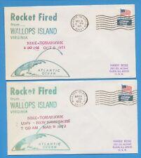 4 SPACE COVERS - NIKE-TOMAHAWK Rockets  - Wallops Island 1970-1972      2 scans