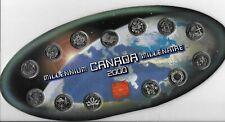 ROYAL CANADIAN MINT MILLENIUM KANADA 2000 COIN SET 13 Münzen