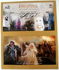 Lord Of The Rings Stamps Autographed Card by Billy Boyd Pippin + Set of 8 Stamps