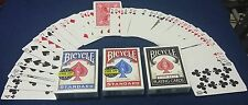 Invisible deck 3 pk combo- Bicycle playing cards magic - High quality guarantee!