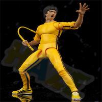 "Bruce Lee The Legend Yellow Jumpsuit 15cm/6"" PVC Figure Toy Model No Box Gift"