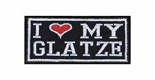 I Love my Glatze Biker Heavy Rocker Patch Aufnäher Kutte Motorrad Badge Stick