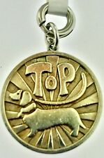 Tiffany & Co Top Dog Dachshund Coin Charm Sterling Silver 4 Bracelet Pendant~WOW